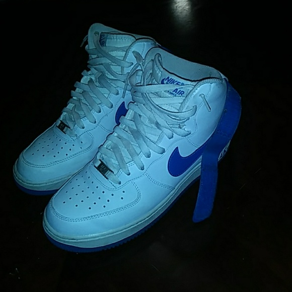 the best attitude caf87 0915a Nike Air Force 1 High  Soar Blue . M 5a83b62e739d481f9755af86